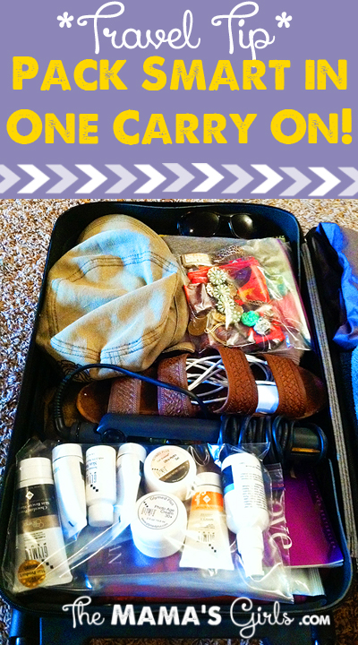 How to pack all your stuff in one carry on bag!