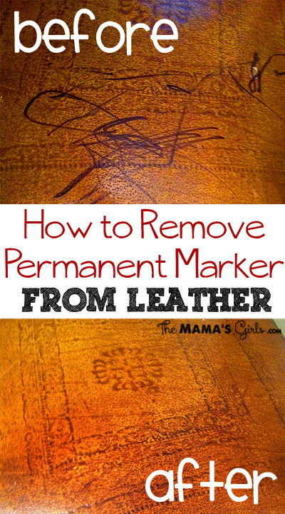 remove permanent marker from leather furniture