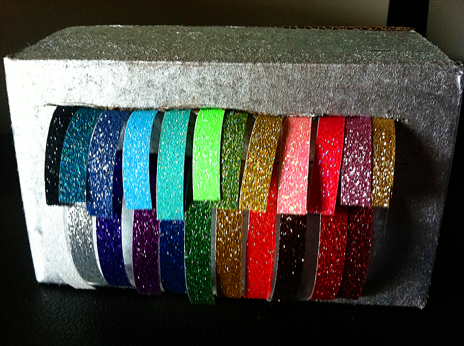 Simple DIY Glitter Tape Dispenser. EASY!