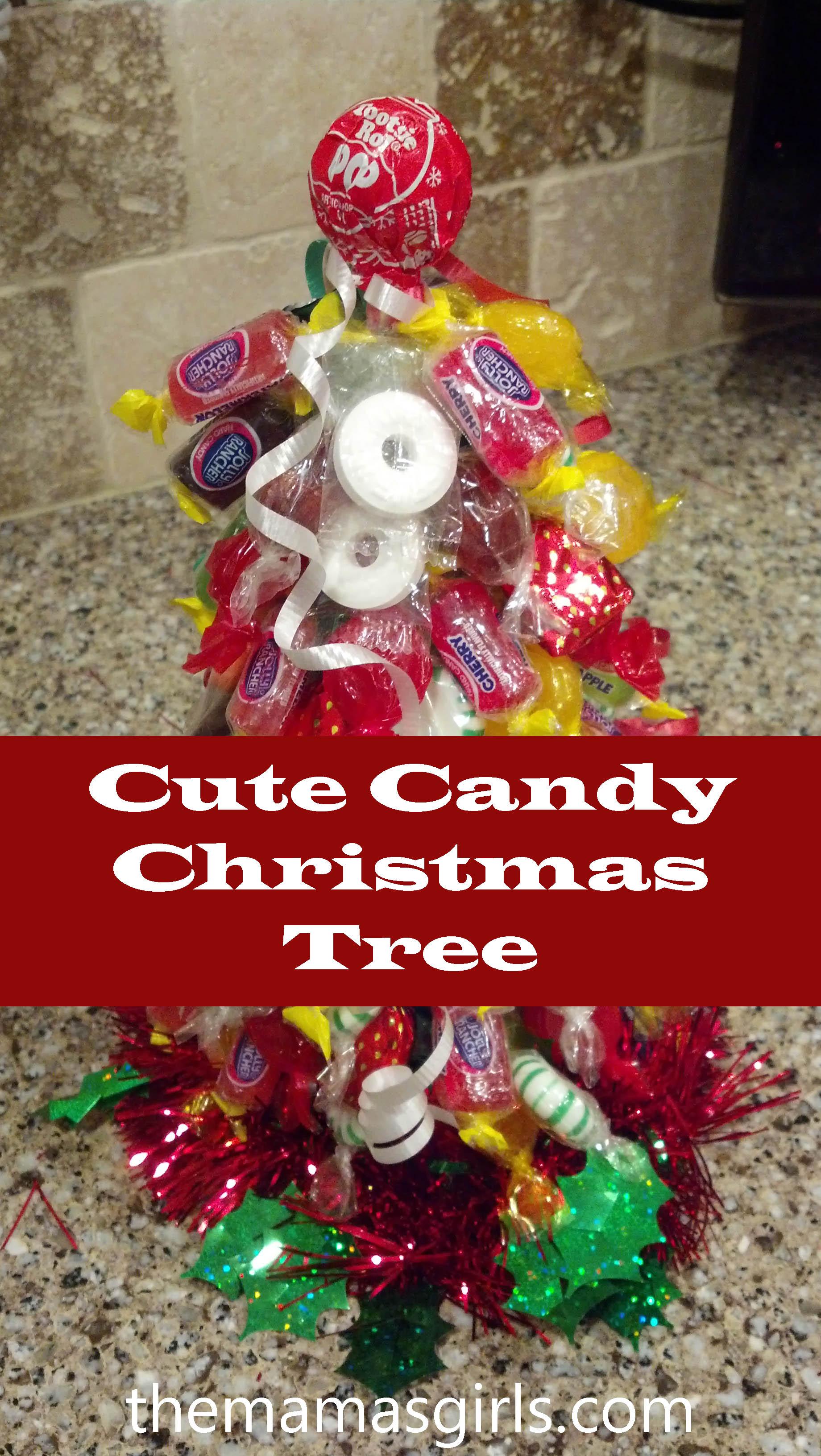 Cute candy christmas tree