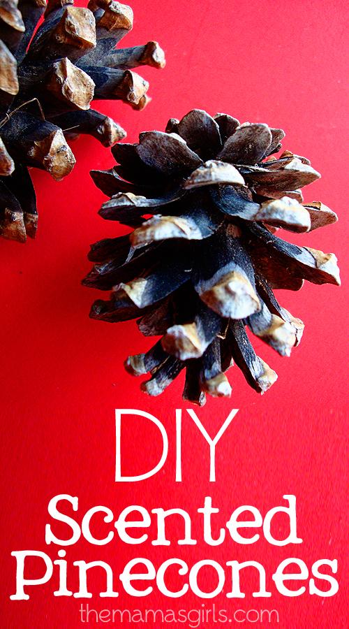 DIY Scented Pinecones