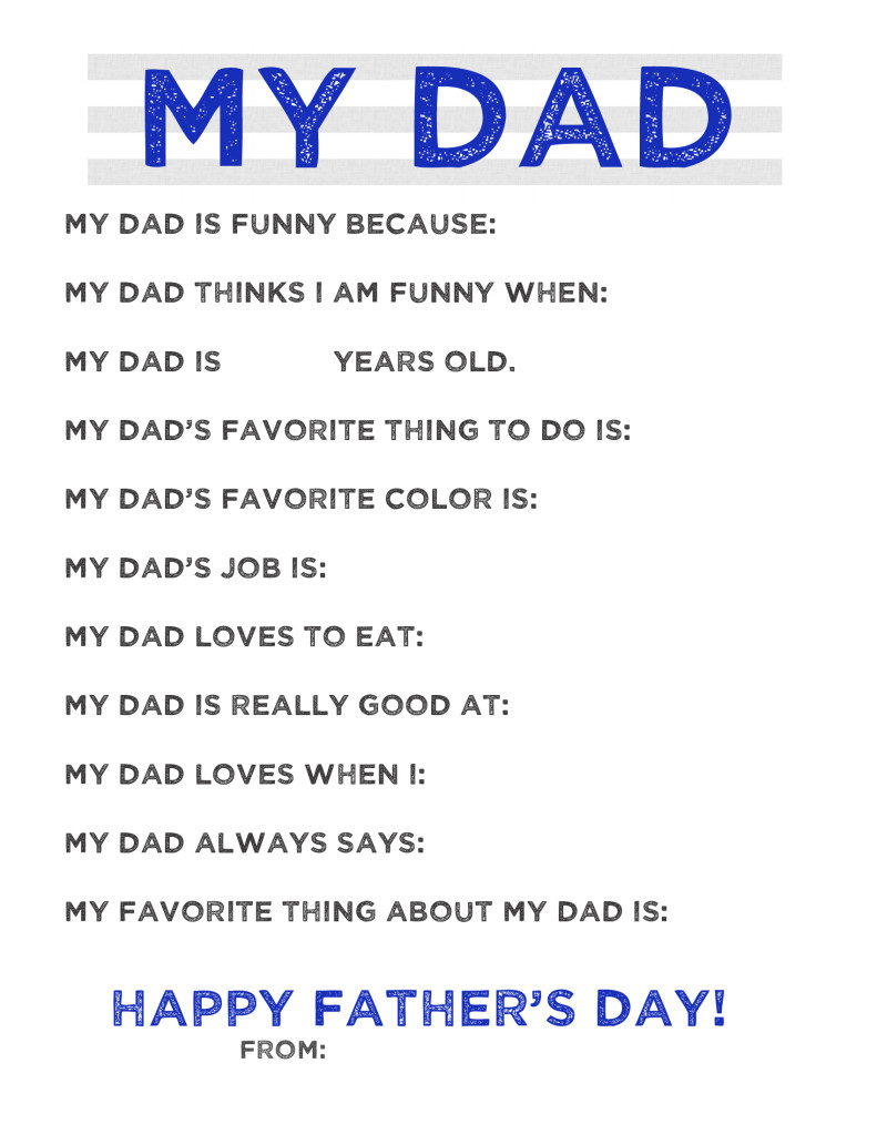 My Dad...Free Father's Day Printable