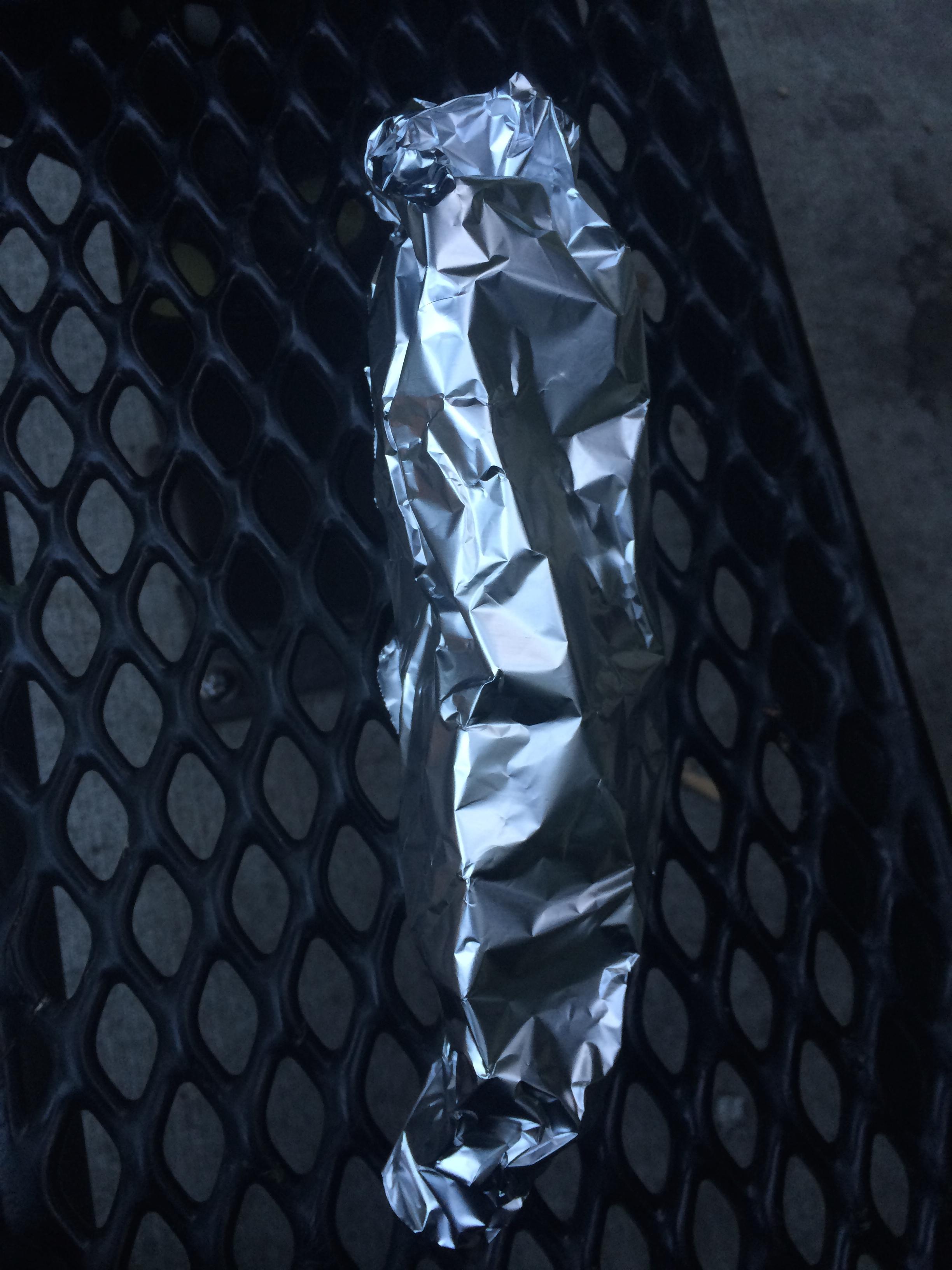 tin foil banana boat dessert
