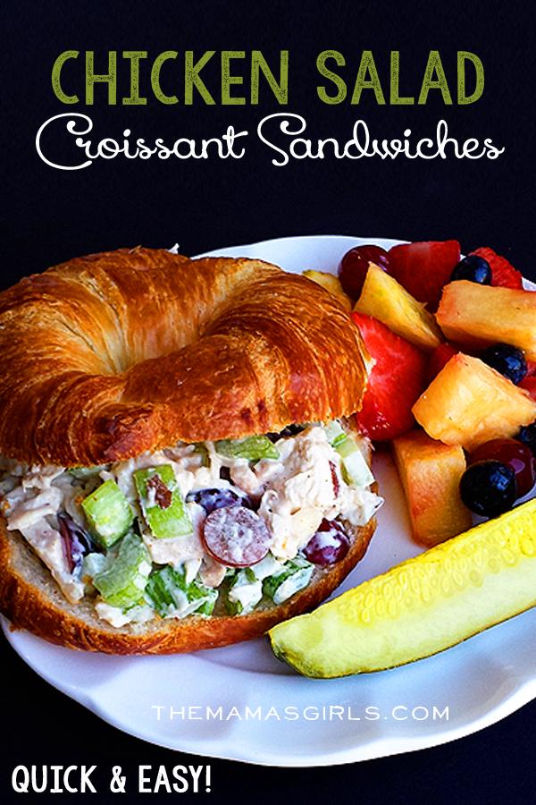 Chicken Salad Croissant Sandwiches