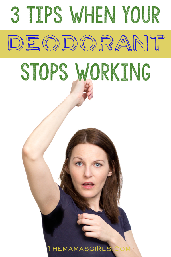 Three tips when your deodorant stops working