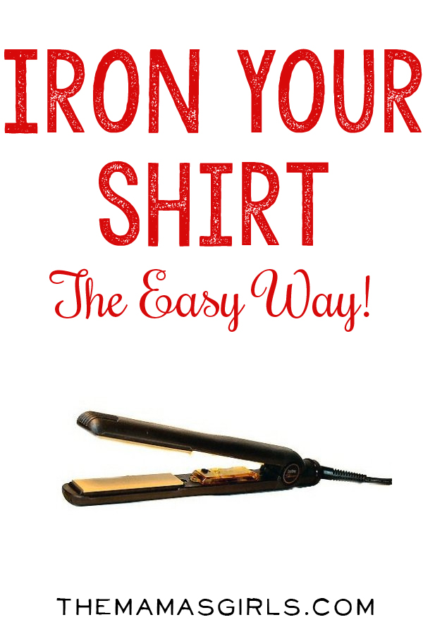 Iron your shirt the easy way..