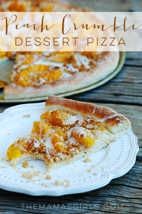 Peach Crumble Dessert Pizza