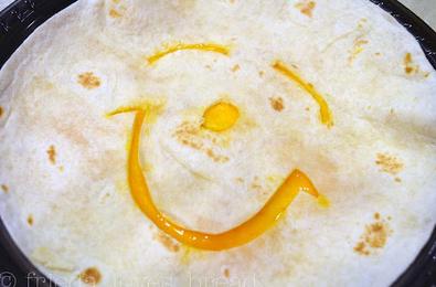 happy face quesadilla