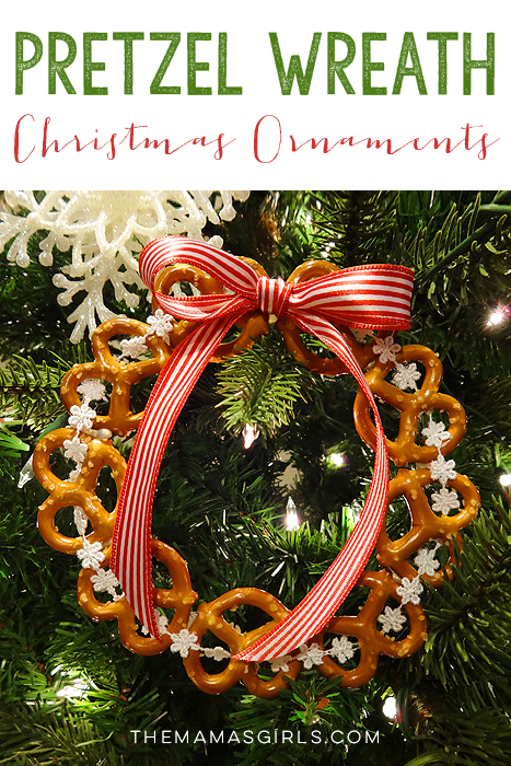 Pretzel Wreath Christmas Tree Ornament