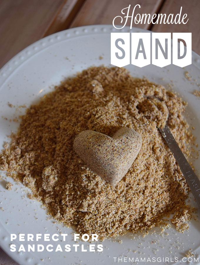 Homemade Sand - great DIY kids activity