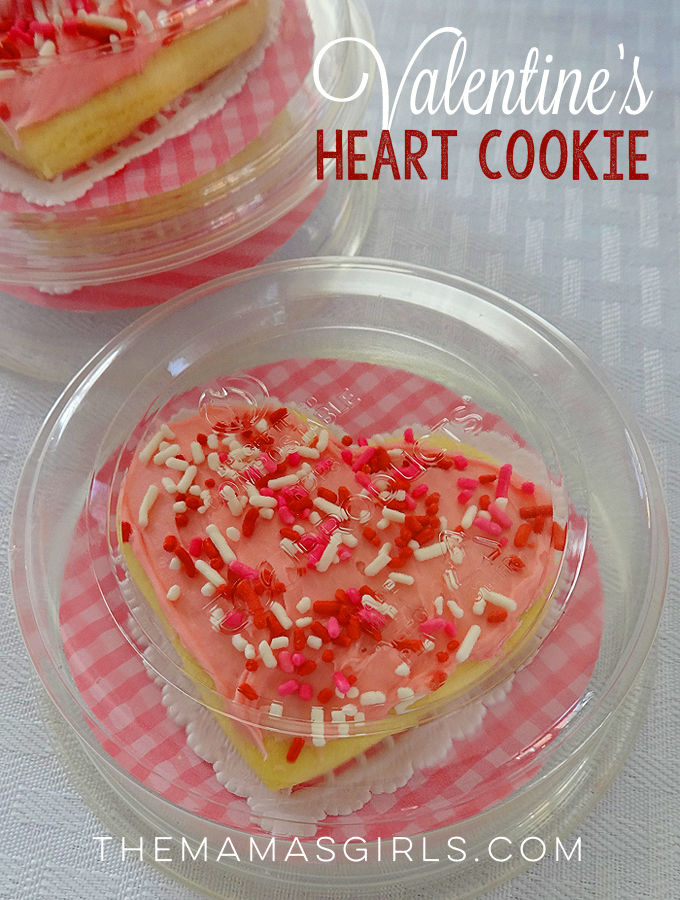 Valentine's Sugar Cookies - cute idea and great recipe! These deli containers work perfectly as packaging for a gift!