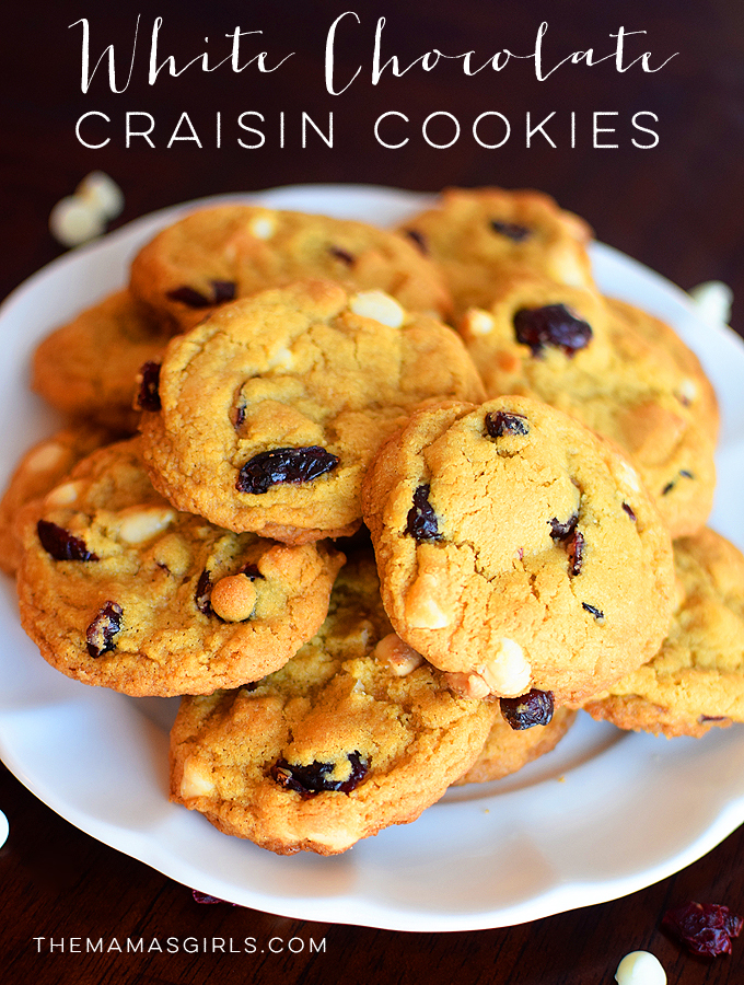 Best White Chocolate Craisin Cookies