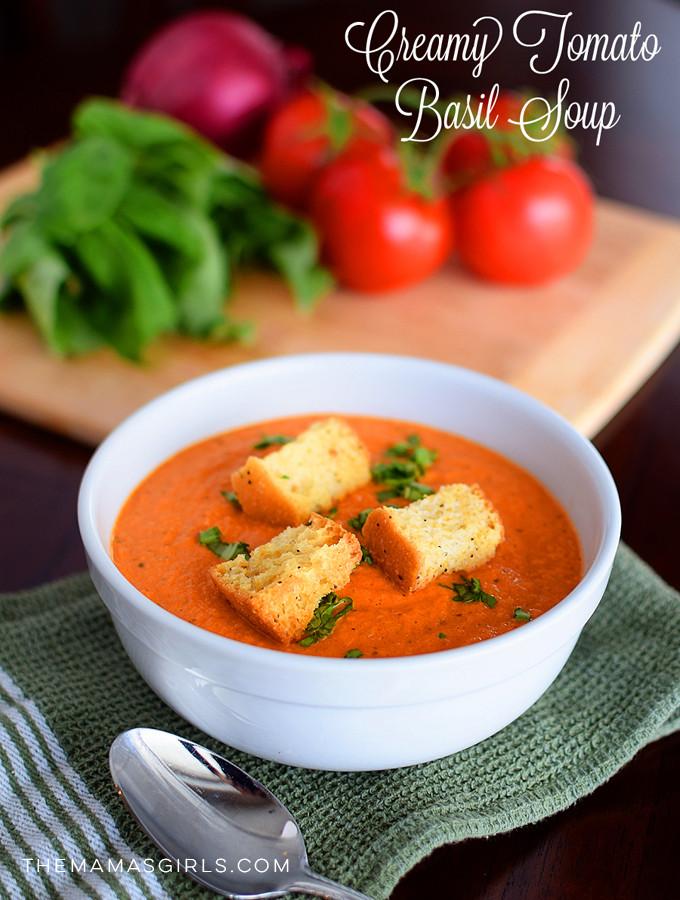 Creamy Tomato Basil Soup- very best!
