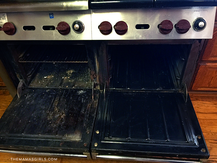 Easy Off Oven Cleaner works wonders!