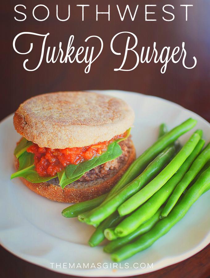 Southwest Turkey Burger - under 350 calories!!