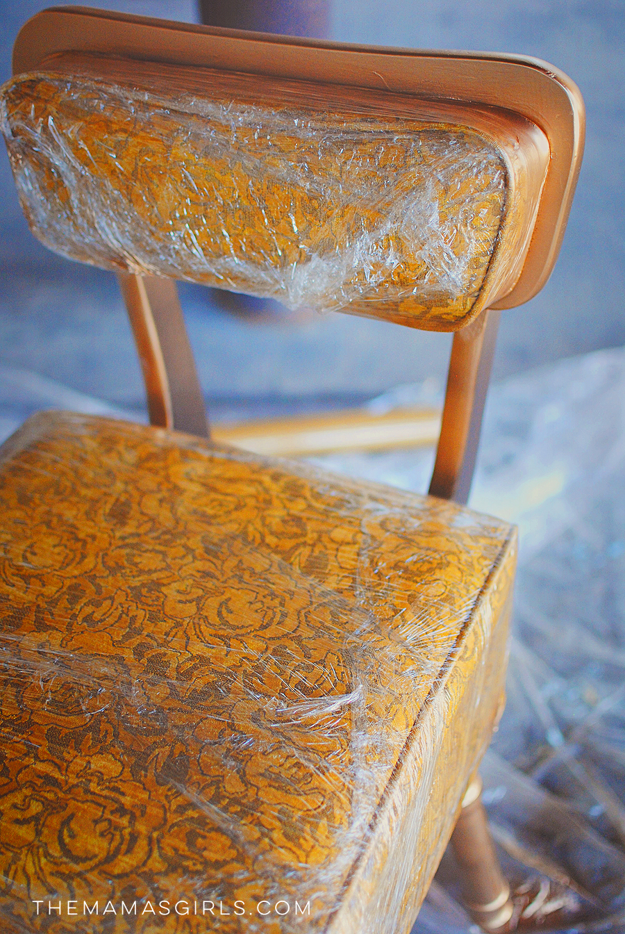 How to mask off furniture when spray painting with plastic wrap Plastic for furniture