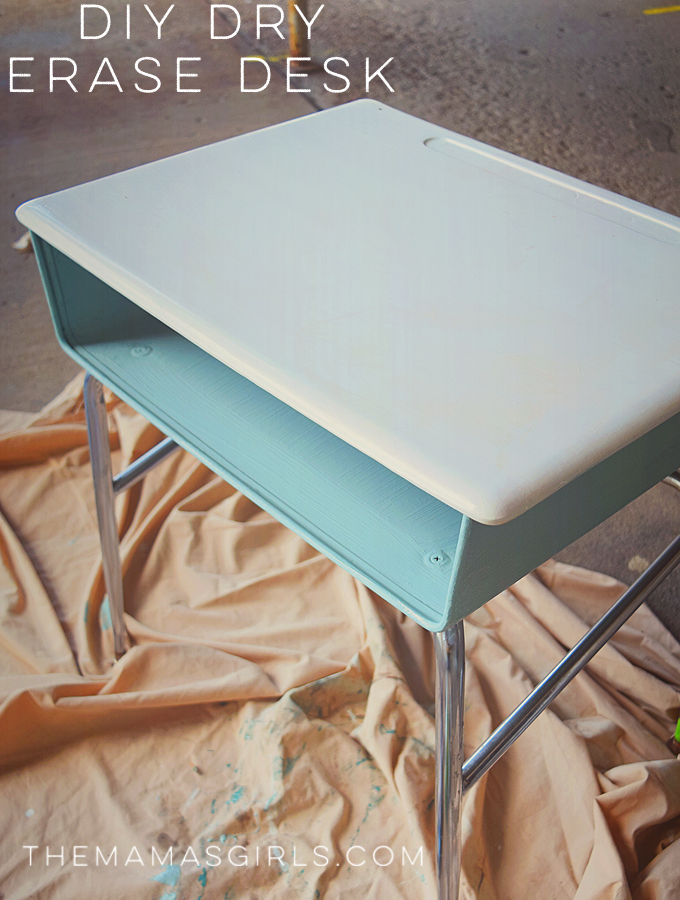 DIY DRY ERASE DESK - so cute