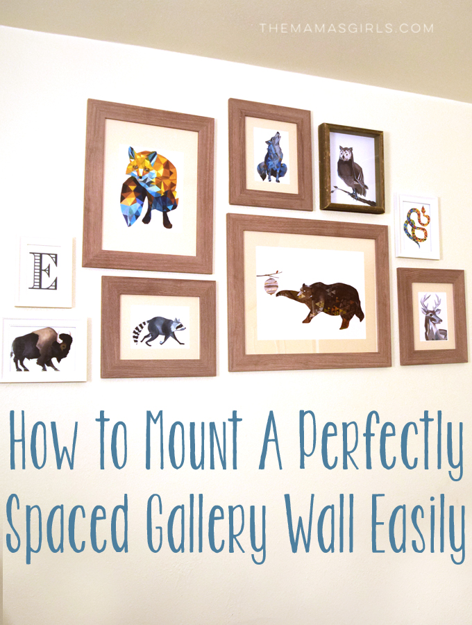 How to Mount A Perfectly Spaced Gallery Wall Easily!