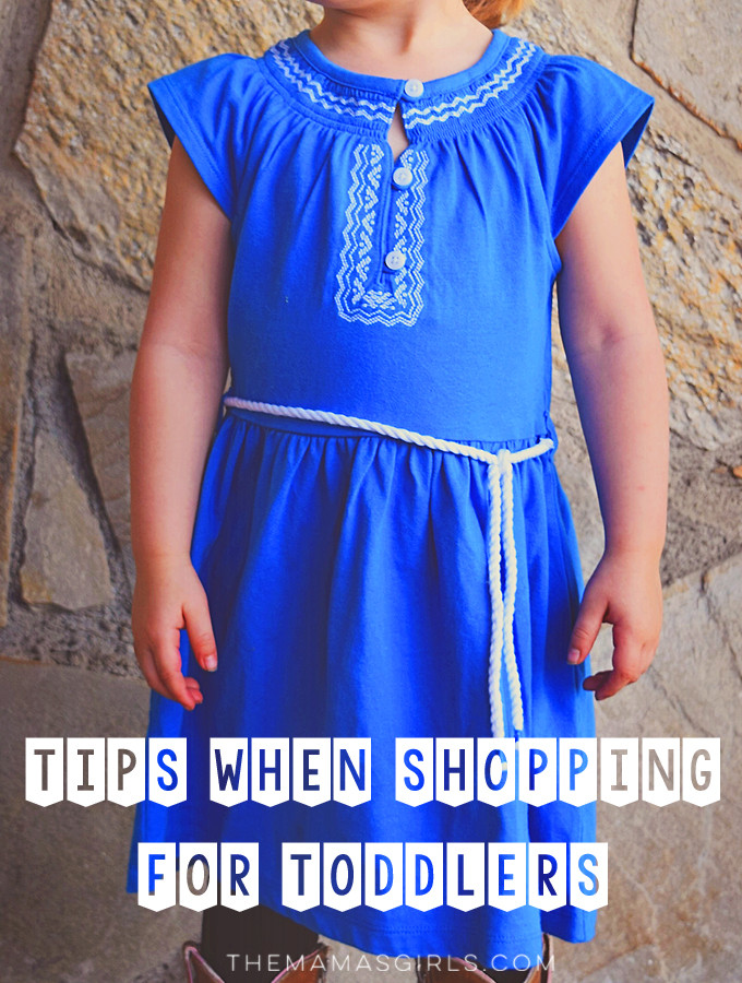 tips for shopping for toddlers - great tips