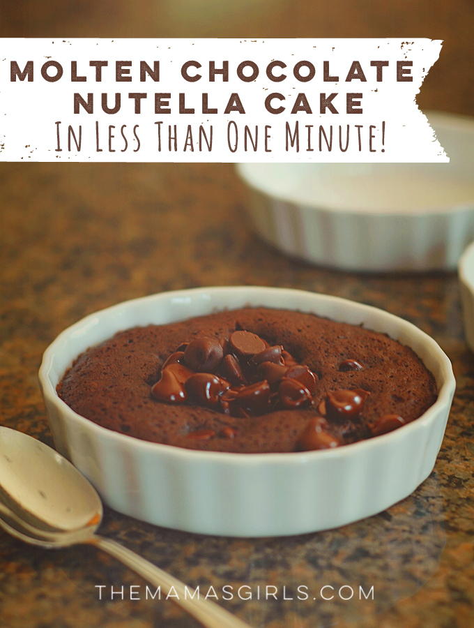 Molten Chocolate Nutella Cake in less than one minute!