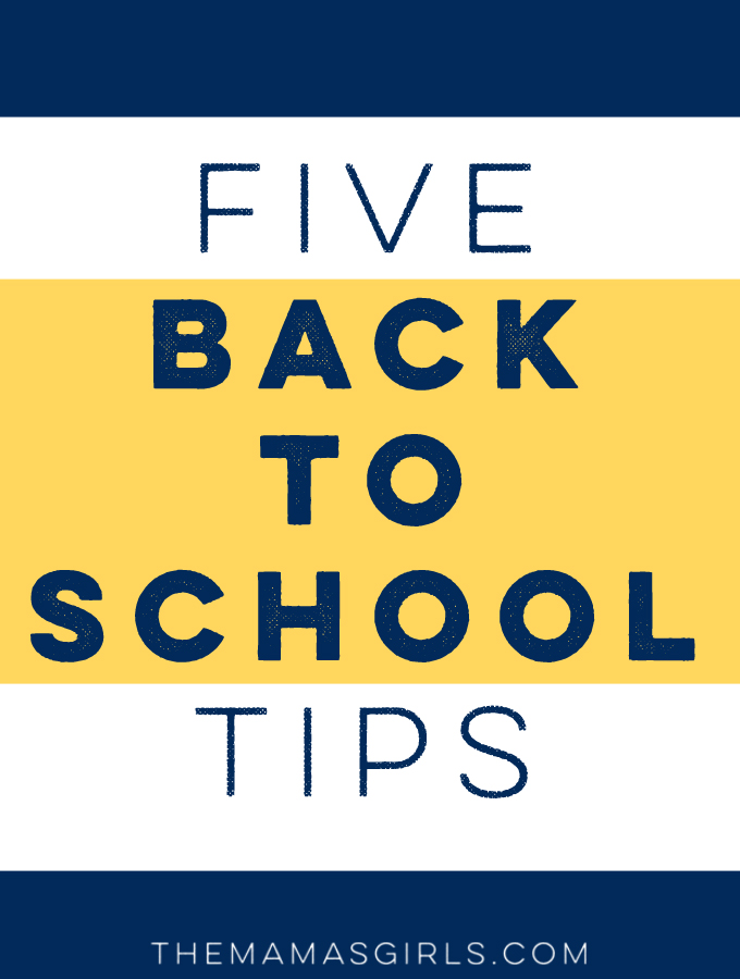 Five Back to School Tips