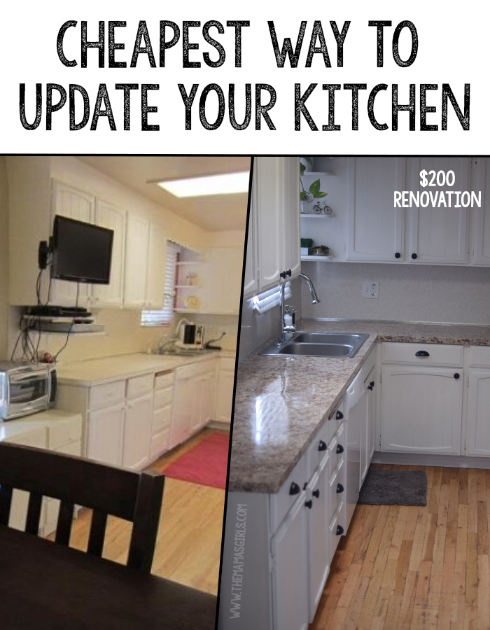 Cheapest way to update a kitchen for How to update cabinets