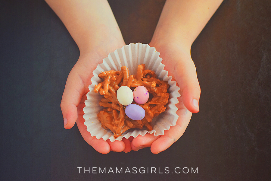 Easter Egg Candy Nests - Easiest Recipe for Kids