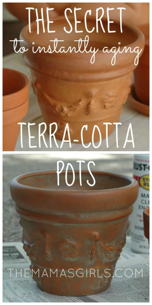The Secret to Instantly Aging Terra Cotta Pots - themamasgirls.com-