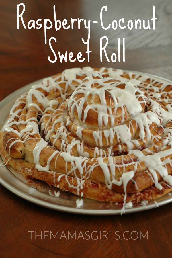 Easy Raspberry-Coconut Sweet Roll - themamasgirls.com