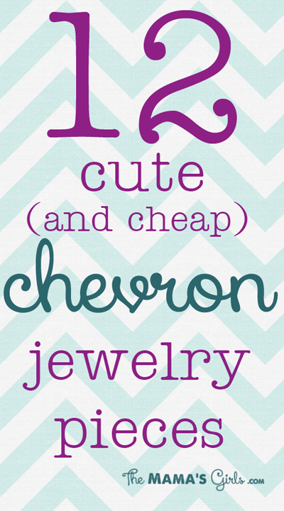 12 cute and cheap CHEVRON jewelry pieces