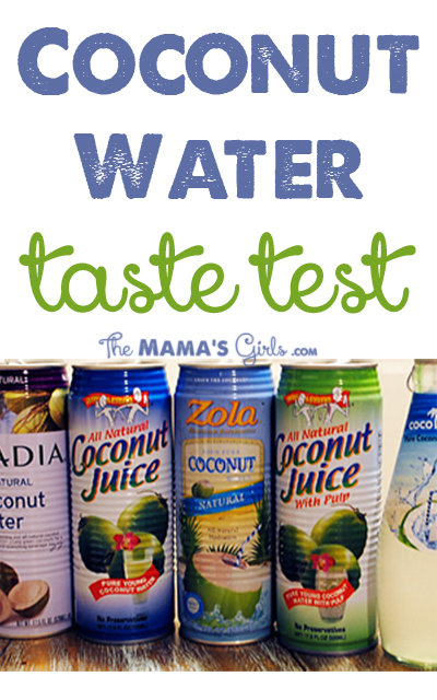 Coconut Water Taste Test. And the winner is ....