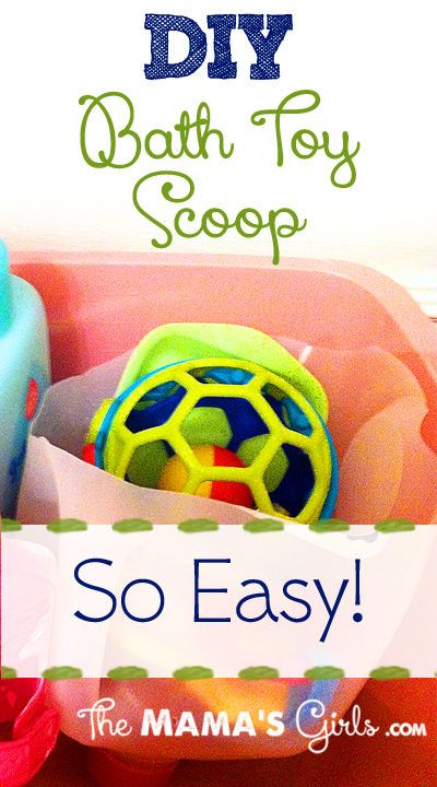 DIY Bath Toy Scoop..