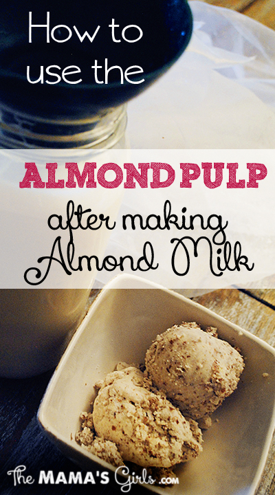 How to use Almond Pulp after making almond milk