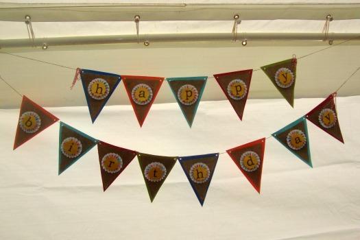 birthday bunting banner