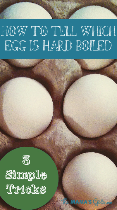 How to determine if your egg is hard boiled