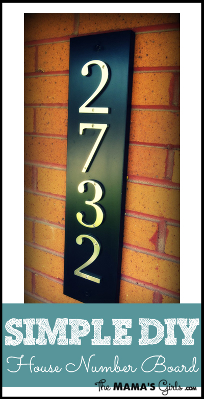 Simple DIY house number board