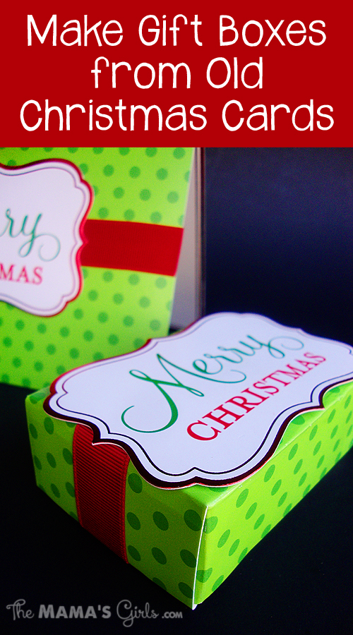 Make Gift Boxes from Old Christmas Cards