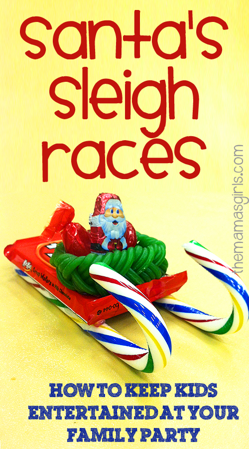 Santa's sleigh races - How to keep kids entertained at your family party