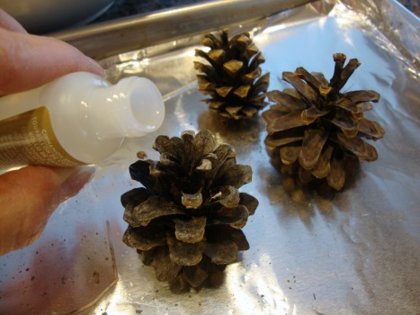 add scent to pinecones