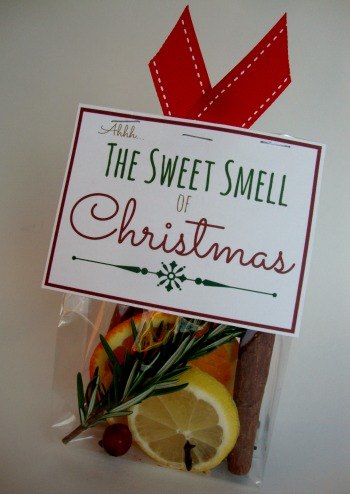 christmas scent with free printable label