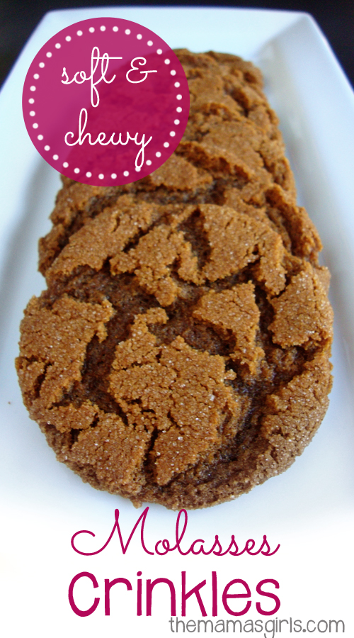soft & chewy molasses crinkles