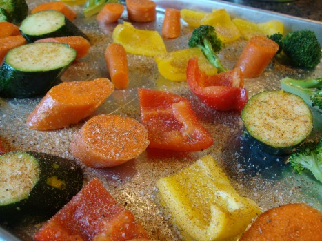 vegetables sprinkled with Montreal seasoning