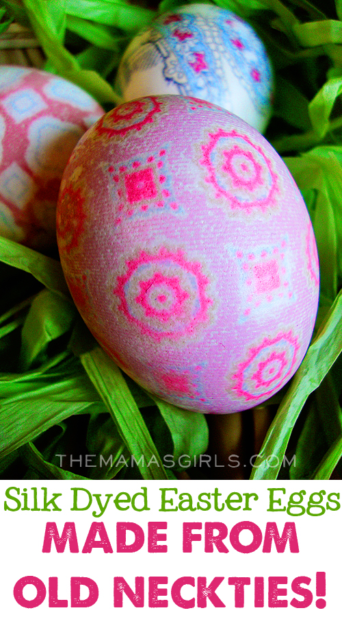Silk Dyed Easter Eggs made from old neckties
