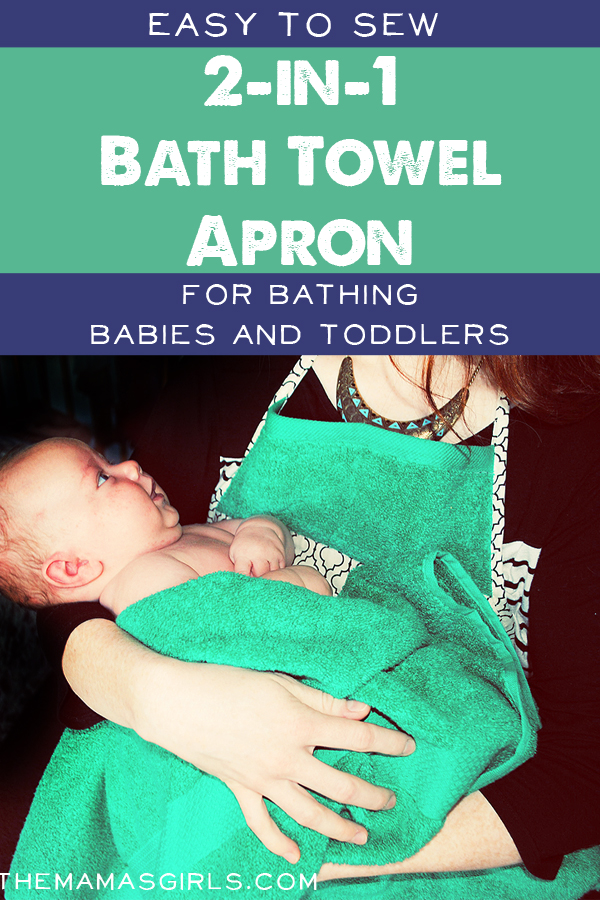 Easy to Sew 2-in-1 Bath Towel Apron