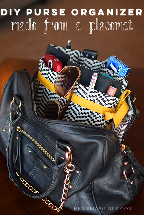 DIY Purse Organizer - made from a Placemat