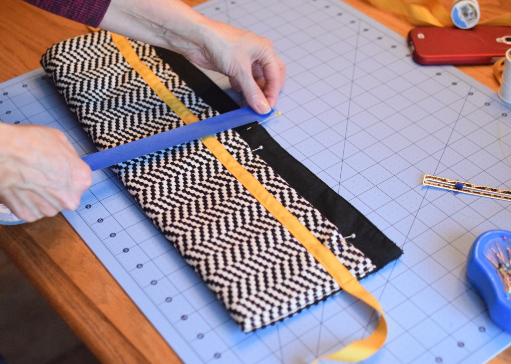 Painters tape to mark stitching line