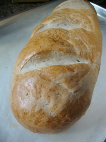 loaf of homemade French bread