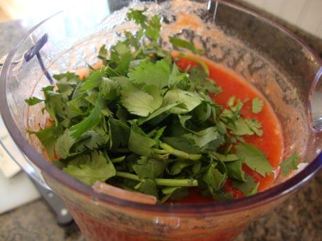 restaurant style salsa with cilantro