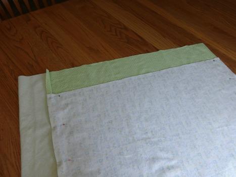 Receiving Blanket step 2 - themamasgirls