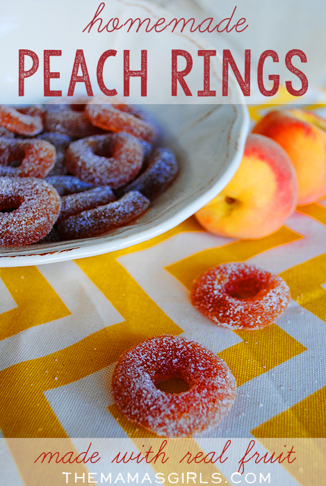 Homemade Peach Rings with Real Fruit